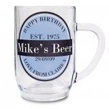 Personalised Label Beer Tankard Glass Gift