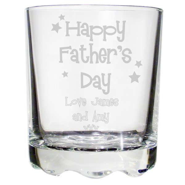 personalised happy father u0026 39 s day stern whisky glass gift